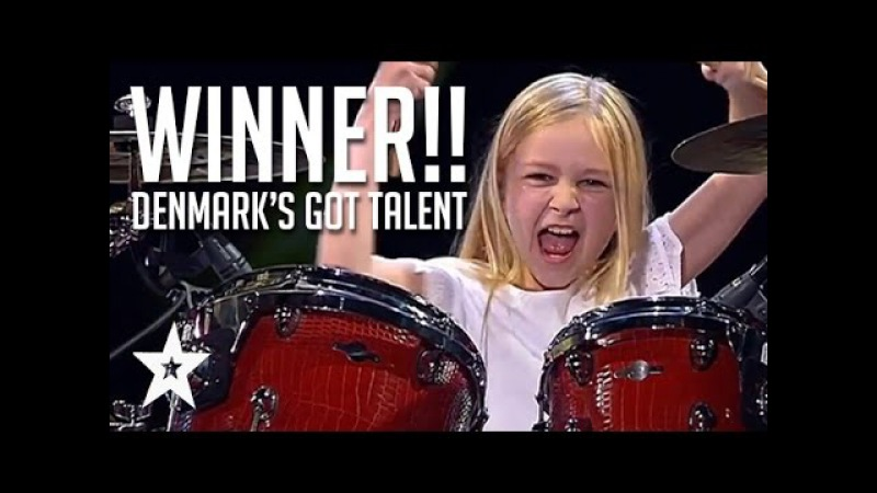 10 Year Old Drummer Johanne Astrid - Winner Of Denmarks Got Talent 2017 Compilation