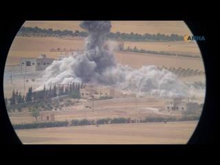 Savaş uçaklarının DAIŞ'ı bombaladığı anlar kayıtlara alındı