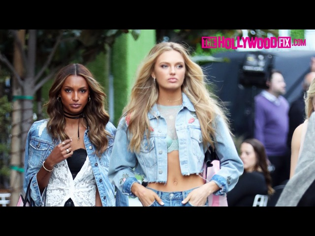 Jasmine Tookes Romee Strijd Look Stunning For Victoria's Secret Campaign Photo Shoot 4.12.17