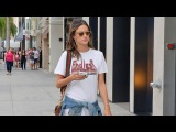 Alessandra Ambrosio Asked About Kim Kardashian Robbery While Shopping In Beverly Hills