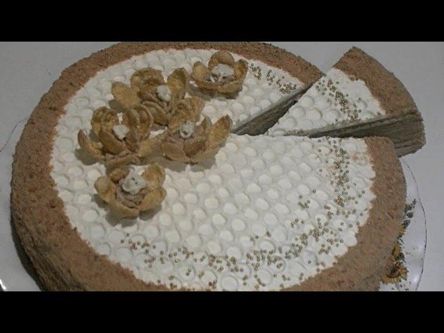 Медовый торт (Медовик).Способ украшения