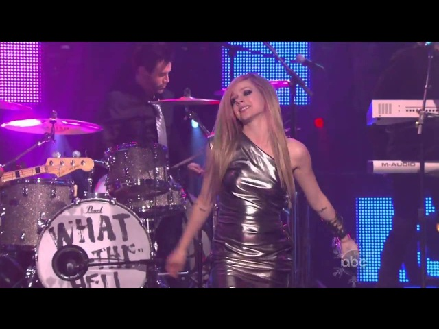 Avril Lavigne - What The Hell Live At Dick Clarks New Years Rockin Eve[720p60]