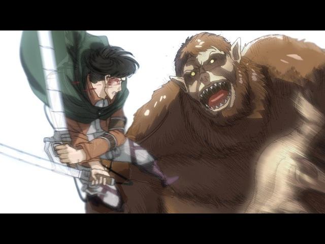Levi Erwin vs Beast Titan - Full Fight - Attack on Titan Manga (Shingeki no Kyojin - English)進撃の巨人