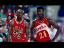 Dominique Wilkins VS Michael Jordan | 'Nique 57 Points, MJ 41 | 12.10.86