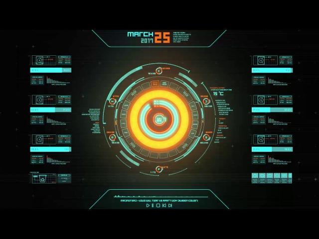Futuristic OS HUD UI Animation