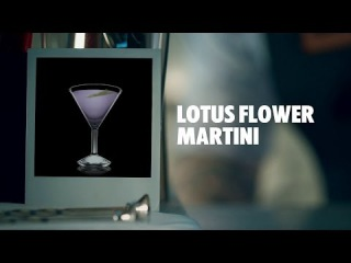 LOTUS FLOWER MARTINI DRINK RECIPE - HOW TO MIX