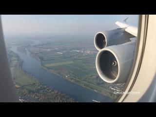 Beautiful Early Morning Lufthansa Airbus A380-800 Landing at Frankfurt [FULL HD]