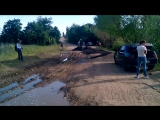 Асфальтирование грязи к приезду губернатора в Саратовской области