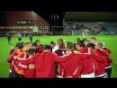 Latvijas futbola izlase pirms spēles pret Portugāli
