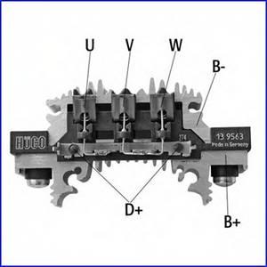 Выпрямитель, генератор для AUDI V8 (44_, 4C_)