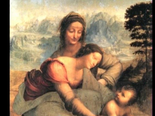 Леонардо да Винчи Святая Анна с Мадонной и младенцем 1510 г Фильм из цикла Мост над бездной