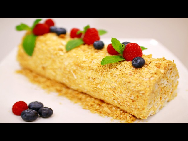 ТОРТ ПОЛЕНО с вареной сгущенкой / А-ля НАПОЛЕОН / LOG CAKE with Dulce de leche.