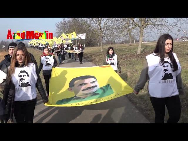 Komployu protesto yürüyüşü başladı: Öcalan'a özgürlük