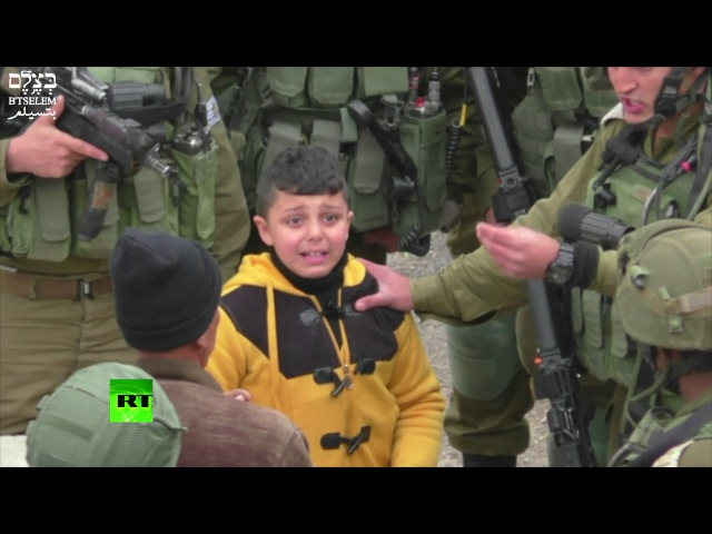 IDF grab 8yo Palestinian boy drag him away 'to find stone throwers' human rights group video shows