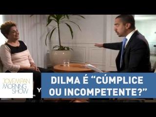 Jornalista pressiona Dilma Rousseff: