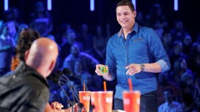 BEST Magic Show in the world - Genius Rubiks Cube Magician Americas Got Talent