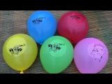 Spiderman Wet Balloons Learn Colors Finger Family Nursery Rhyme Balloon