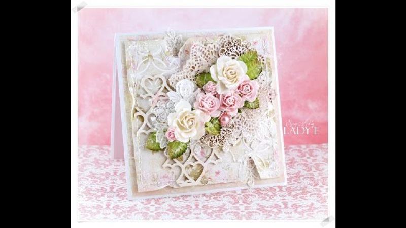 Romantic Shabby Chic Card Tutorial Wild Orchid Crafts * Emilia Sieradzan *