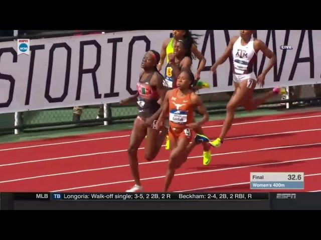 Women's 400m Finals   NCAA Championships 2017