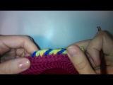 Многоцветная обвязка края крючком Crochet multycolor border hats