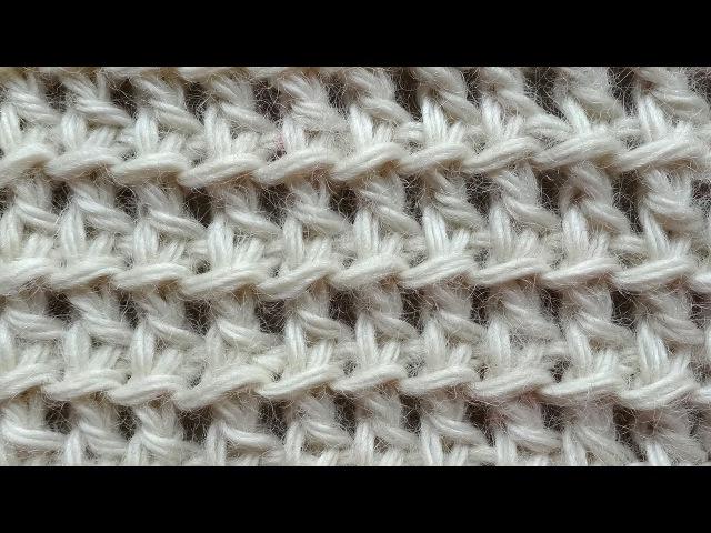 Сеточка Тунисское вязание Tunisian crochet pattern Узор 14