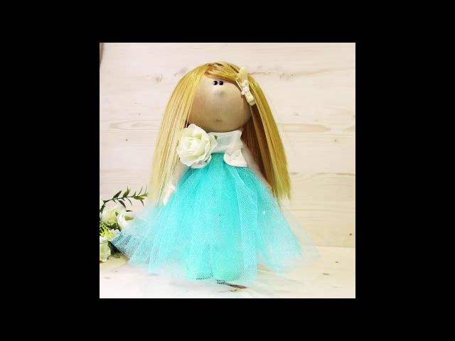Крепим трессы к голове куклы