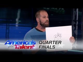 Jon Dorenbos: NFL Magician Makes Stunning Artistic Predictions - America's Got Talent 2016