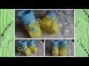 Красивые вязаные пинетки  на двух спицах для новорождённых: мои работы