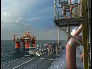 Реалистичный симулятор работы на нефтяной платформе с 3DVIA Studio