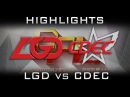 LGD vs CDEC DPL 2016 Finals Highlights Dota 2