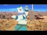 Llama and polar bear dancing Tunak Tunak Tun