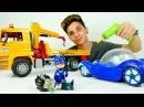 Pijamaskeliler!🚘 Kedi çocuk arabası artık Lego Duplo arabası olmuş! Romeo araba yıkama oyunu oynadı!
