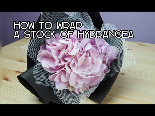 HOW TO WRAP A STALK OF HYDRANGEA