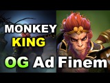 MONKEY KING First Pro Game! - OG Ad Finem - Elimination Mode 3.0 Dota 2