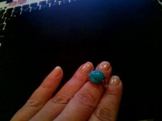 Размер 16 . Кольцо с бирюзой