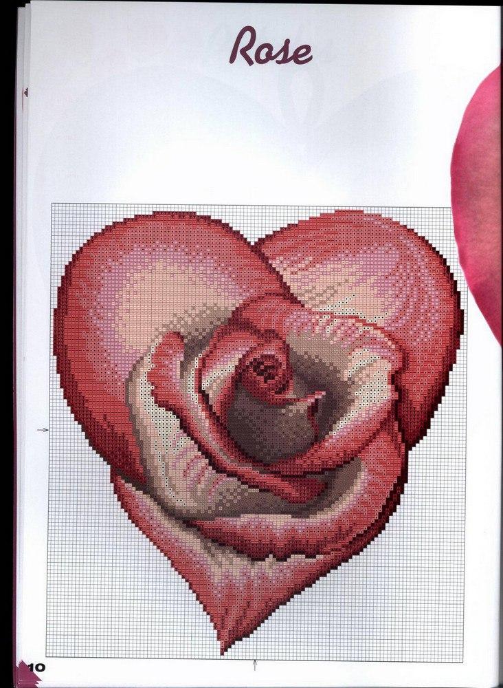 сердечки крестиком схемы