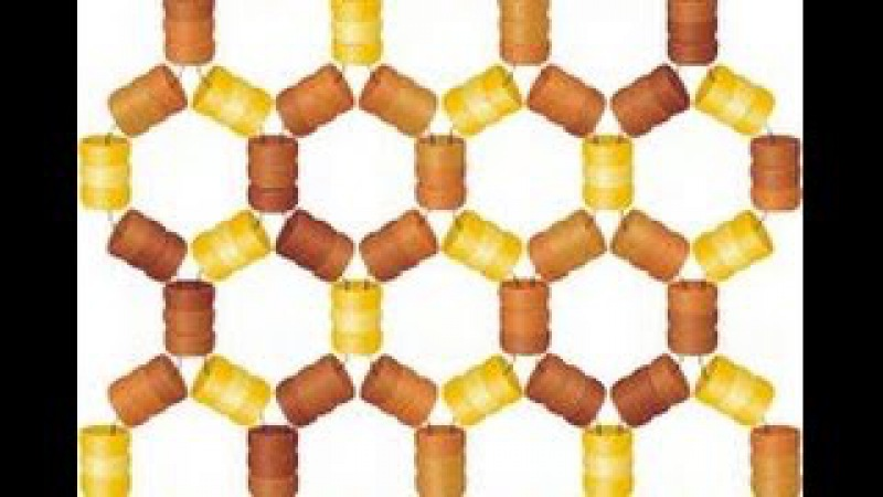 Honeycomb Netting. Beading Cartoon