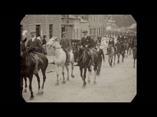 1899 - Town Parade in Selkirk, Scotland (speed corrected w/ added sound)