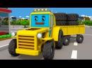 Супер Мультики ТРАКТОР помогает МАШИНКАМ 3D Видео для детей