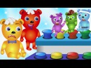 Bad Gummy Bear crying jumping on the colors toys finger family song for children Gummybear kids