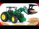 Pracowity Traktorki - Praca na Farmie | Agricultural Machinery - Bajki dla dzieci