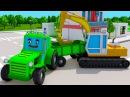 Трактор и ЭКСТРИМ ГОНКИ С ПРЕПЯТСТВИЯМИ - СБОРНИК мультики для детей