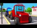Мультфильмы про Рабочие МАШИНКИ Трактор, Экскаватор и Бульдозер - 3D Мультфильм В