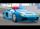 The Blue Police Car - Emergency Service Vehicles Children Video | Cars Trucks Cartoon for kids
