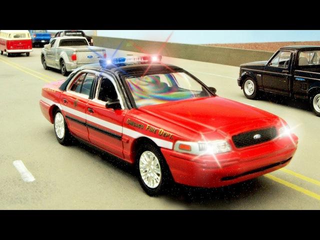 Schnell Autos - Das Polizeiauto, Rennauto und Krankenwagen -Rettungsteam - Cartoons für kinder