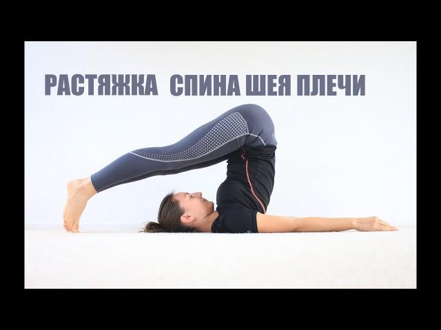 Растяжка: спина, шея, плечи - 40 минут | chilelavida