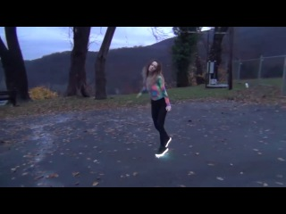 Cutting Shapes With LED Light Up Shoes | Gabby J David