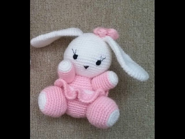 (Amigurumi ) Örgü Oyuncak Sevimli Tavşan Yapımı 3 (Crochet Amigurumi Cute Rabbit 3)