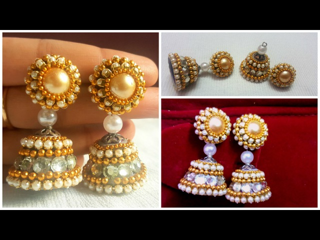 DIY Quiling paper Bridal Jhumka: How to make jhumka with quiling paper tutorial I Creative Diaries