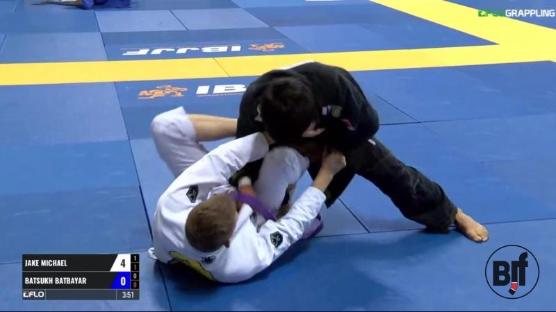 Jake Michael vs Batsukh Batbayar purple IBJJFworld17 bjj freaks